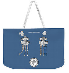 Star Wars - Droid Patent Weekender Tote Bag by Mark Rogan