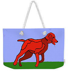 Cartoon Romping Miniature Apricot Poodle Weekender Tote Bag