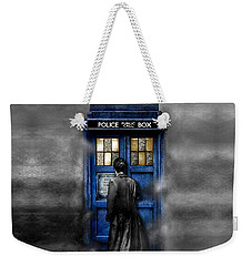 Mysterious Time Traveller With Black Jacket Weekender Tote Bag