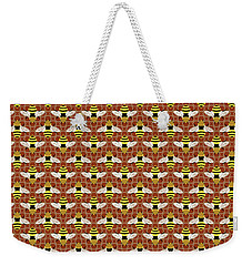 Bees And Honeycomb Pattern Weekender Tote Bag by MM Anderson