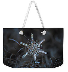 Snowflake Photo - Steering Wheel Weekender Tote Bag by Alexey Kljatov