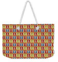 Flip Flops Stripes Graphic In Primary Colors Weekender Tote Bag by MM Anderson