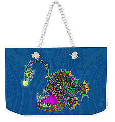 Electric Angler Fish Weekender Tote Bag by Tammy Wetzel