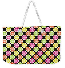 Colorful Citrus Slices Weekender Tote Bag by MM Anderson