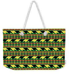 Rhinoceros Safari Weave Weekender Tote Bag by MM Anderson