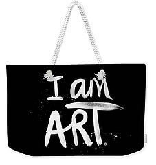 I Am Art- Painted Weekender Tote Bag by Linda Woods