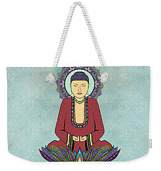 Electric Buddha Weekender Tote Bag by Tammy Wetzel