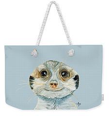 Meerkat Weekender Tote Bag by Angeles M Pomata