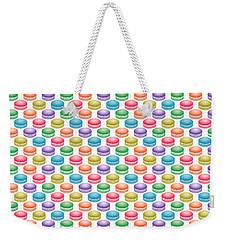 Colorful Pop Art Macarons Weekender Tote Bag by MM Anderson