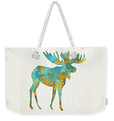 Moose Watercolor Art Weekender Tote Bag
