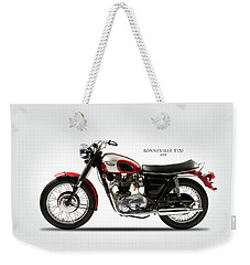 Triumph Bonneville 1970 Weekender Tote Bag by Mark Rogan