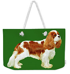 Weekender Tote Bag featuring the painting Cavalier King Charles Spaniel by Marian Cates