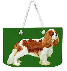 Cavalier King Charles Spaniel Weekender Tote Bag by Marian Cates