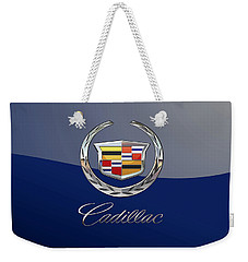 Cadillac 3 D  Badge Special Edition On Blue Weekender Tote Bag