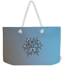 Snowflake Photo - Flying Castle Weekender Tote Bag by Alexey Kljatov