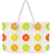 Juicy Citrus Weekender Tote Bag by Little Bunny Sunshine