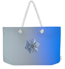 Weekender Tote Bag featuring the photograph Snowflake Photo - Winter Fortress by Alexey Kljatov