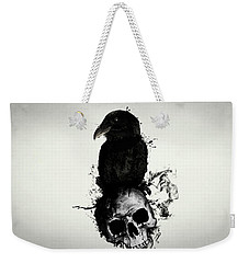 Raven And Skull Weekender Tote Bag by Nicklas Gustafsson