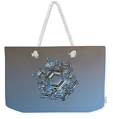 Snowflake Photo - Cold Metal Weekender Tote Bag by Alexey Kljatov