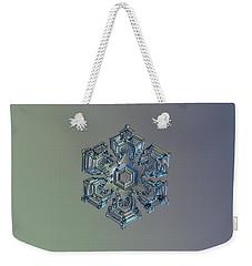 Snowflake Photo - Silver Foil Weekender Tote Bag