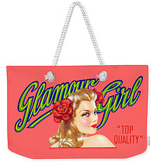 1945 California Glamour Girl  Weekender Tote Bag by Historic Image