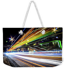Weekender Tote Bag featuring the photograph Light Trails 1 by Nicklas Gustafsson