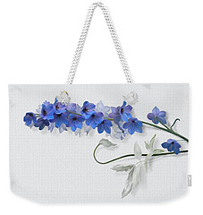 Weekender Tote Bag featuring the painting Consolida by Ivana Westin