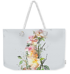 Weekender Tote Bag featuring the painting Wild Roses by Ivana Westin