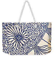 Blue Oriental Vintage Tile 01 Weekender Tote Bag