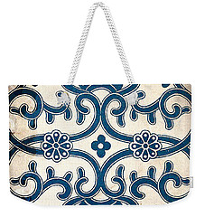 Blue Oriental Vintage Tile 02 Weekender Tote Bag