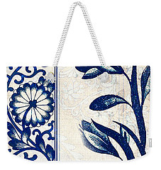 Blue Oriental Vintage Tile 03 Weekender Tote Bag