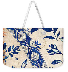 Blue Oriental Vintage Tile 04 Weekender Tote Bag