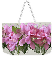 Weekender Tote Bag featuring the painting Pink Blossoms by Ivana Westin