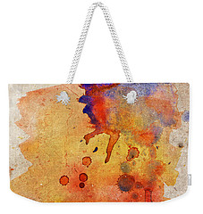 Orange Color Splash Weekender Tote Bag