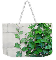 Weekender Tote Bag featuring the painting Vines By The Wall by Ivana