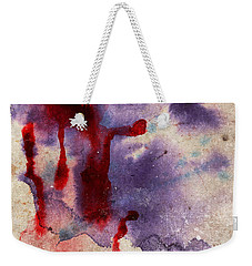 Purple Color Splash Weekender Tote Bag