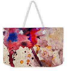 Red Color Splash Weekender Tote Bag
