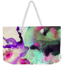Green Color Splash Weekender Tote Bag