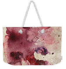 Garnet Color Splash Weekender Tote Bag
