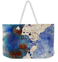 Blue Color Splash Weekender Tote Bag
