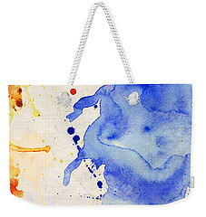 Blue And Orange Color Splash Weekender Tote Bag