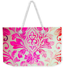 Pink Damask Pattern Weekender Tote Bag