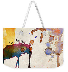 Multicolor Splash Weekender Tote Bag