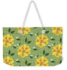 Abstract Yellow Primrose Flower Weekender Tote Bag