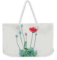 Weekender Tote Bag featuring the painting Poppy by Ivana Westin