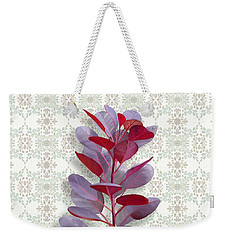 Weekender Tote Bag featuring the painting Royal Purple by Ivana Westin