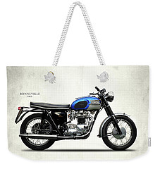 Triumph Bonneville T120 1965 Weekender Tote Bag by Mark Rogan
