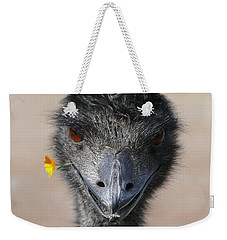 Weekender Tote Bag featuring the photograph Happy Emu by Ivana Westin