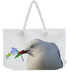 Weekender Tote Bag featuring the painting Seagull by Ivana Westin