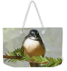 Weekender Tote Bag featuring the painting Fantail  by Ivana Westin